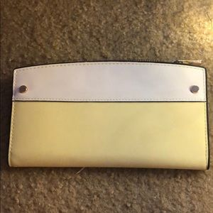 Handbags - White and yellow wallet
